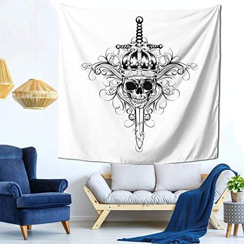 Lsjuee Scheletro Scheletro Arazzo Appeso a parete Decorazioni per la casa Fan Art per Camera da letto Soggiorno Dormitorio