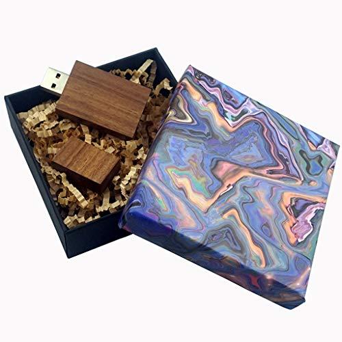 LUCKCRAZY - Chiavetta USB 2.0 per anniversario di matrimonio, 16 GB, in legno, con scatola regalo