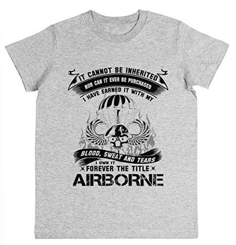 Rundi Airborne Infantry Mom Airborne Jump Wings Airborne Badge Airborne Brot Unisexo Niño Niña Camiseta Gris Tamaño M Unisex Kids Boys Girls's T-Shirt Grey Size M