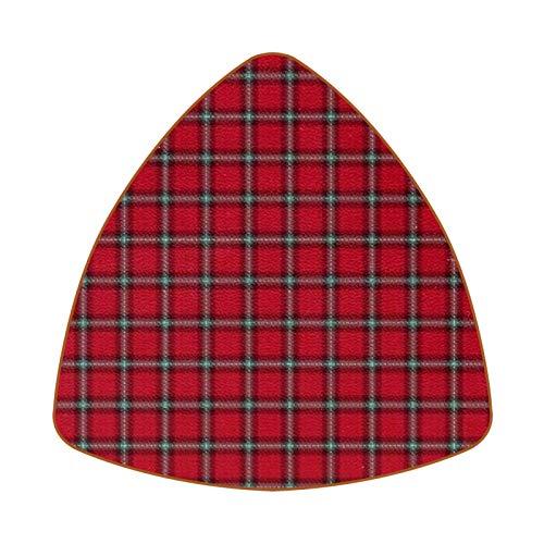 Posavasos triangulares para bebidas, abrigo de invierno, de piel, para proteger muebles, resistente al calor, decoración de bar, juego de 6