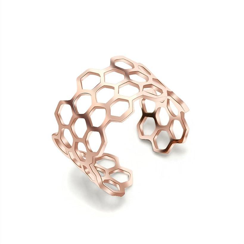 NOUMANDA Wide Open Ring Charm Honeycomb Bee Hive Ring Gift Women Girls