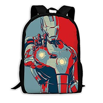Iron Man Blue Lightweight Backpack Mini Cute School Bag for Girl and Boy Hiking Picnic Travel