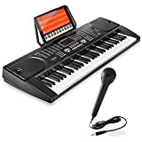 Hamzer 61-Key Digital Music Piano Keyboard - Portable Electronic...
