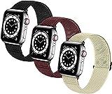 LXFFCOK Bandas de relojes elásticas trenzadas suaves de nylon SOLO LOOP compatible con for el reloj de Apple Sport Ajustable Sport Transpirable Strap de la muñeca for iWatch Series 7/6/5/4/3/2 / 1 / S