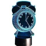 KangYD Réveil 3D Veilleuse, Lampe visuelle à LED, Lampe de couchage, Décoration...