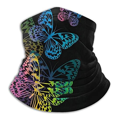 Máscara de mariposas transpirable para el cuello, cubierta para la cabeza, bufanda para la cabeza de la motocicleta