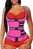 Faja Reductora Mujer Chaleco Adelgazante Underbusto Cinturón de Entrenamiento Body Shaper Corsé Workout Tank Tops (Color : Pink, Size : XL)