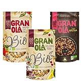Granola BIO con Fruta y Chocolate - Elaborada con Aceite de Oliva Virgen Extra - Con Ingredientes Naturales - Proceso 100% Artesano - Copos de Avena para una Comida Saludable