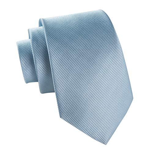 Massi Morino® Cravate en Soie Cousue Main (Différents Coloris) Largeur de 6,5 cm (Bleu Clair)
