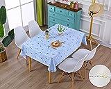 AIJIA Wachstuch Tischdecke Wachstischdecke Blau Plastik PVC Party Tischdecken Wasserabweisend Abwischbare Lotuseffekt für Schutzfolie(Quadratisch Vogel) 137 * 137CM - 2