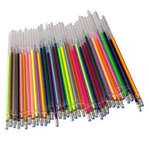 PETSOLA Pluma de Tinta de Gel Bolígrafo Resaltador Oficina Escolar Reemplazar Cartucho de Recarga - colores clásicos, 36x