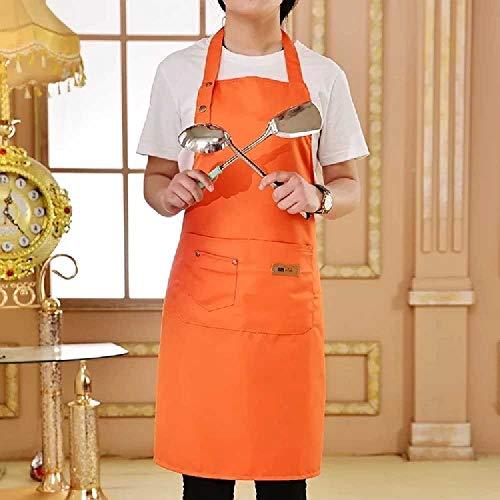 wangtao Pure Kleur Koken Keukenschort Voor Vrouw Mannen Chef Ober Cafe Shop BBQ Kapper Schorten Gift Bibs Oranje