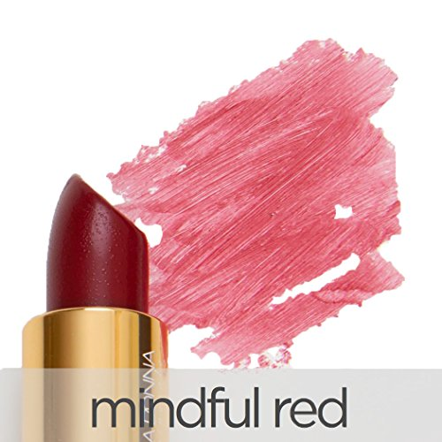 La Bella Donna Mineral Light Up Lip Colour | All Natural Pure Mineral Lipstick | Long-Lasting Color| Hydrating Formula | 100% Vegan | Hypoallergenic and Cruelty Free - Mindful Red