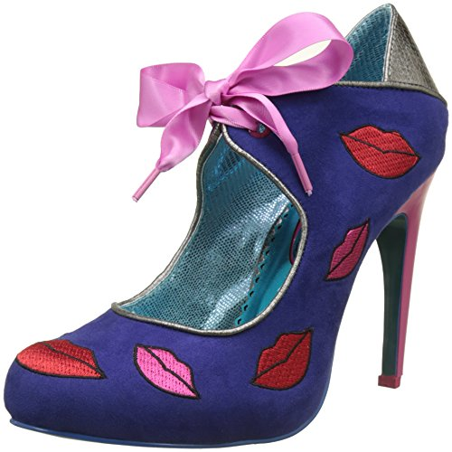 Poetic Licence by Irregular Choice Pucker Up, Zapatos de tacón con Punta Cerrada Mujer, Azul Azul Azul Azul Multi, 36.5 EU
