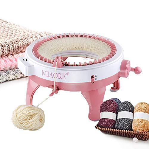 Máquina de tejer de 48 Agujas, Máquina de Tejer Inteligente con Contador de filas, Telar Redondo, Máquina de Tejer Tejida a Mano Para Niños y Adultos