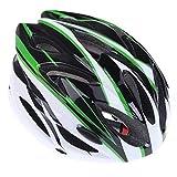 El casco de luz protege 18 Vents ultraligero de una sola pieza deportes casco de la bici con la sombrilla de bicicletas de montaña for adultos Ligero y cómodo para adultos y niños. ( Color : Green )