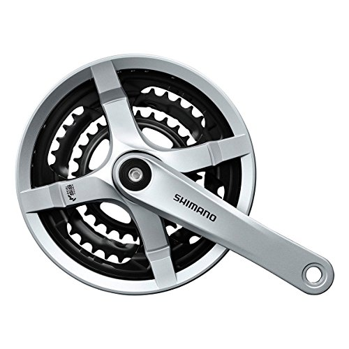 SHIMANO Tourney Mountain Bicycle Crank Set - FC-TY501 (Silver - 170MM, 42X34X24T W/O CG)