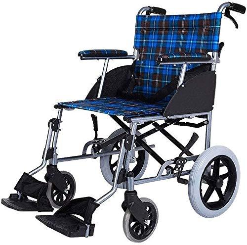 Rolstoelen Light Weight handbewogen rolstoel Portable Aluminium Rolstoel Folding Lichtgewicht Ouderen met een handicap Scooter Care Car Swing Away voetsteunen