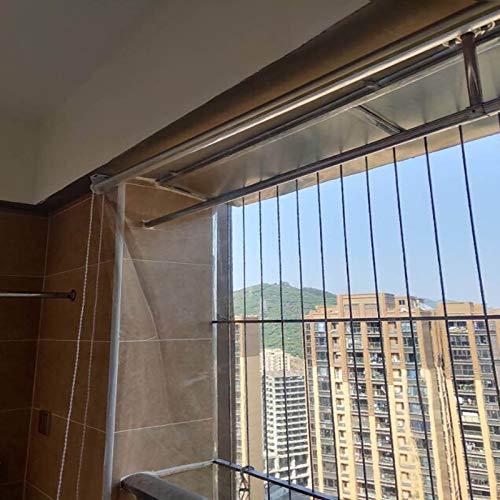 SSZY Estor Enrollable Ventanas Oficina Hogar Persianas Enrollables Transparentes con Herrajes, 150/135/125/110 / 90cm de Ancho, Persiana Enrollable de PVC de Plástico a Prueba de Lluvia