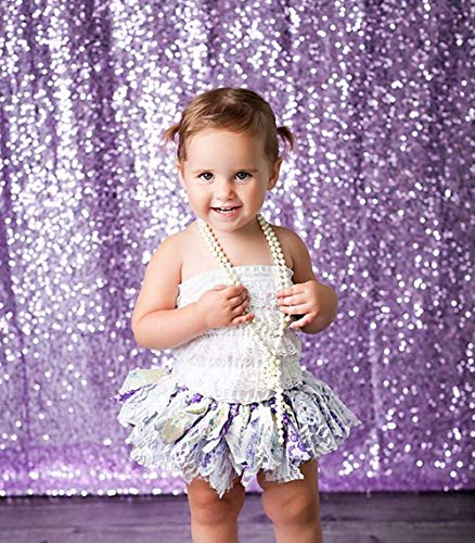 Glitter Curtain Backdrop Lavender Sequin Backdrop Drapes 4ft x 6ft Wedding Photo Backdrop Birthday Photography Background Baby Shower Curtain