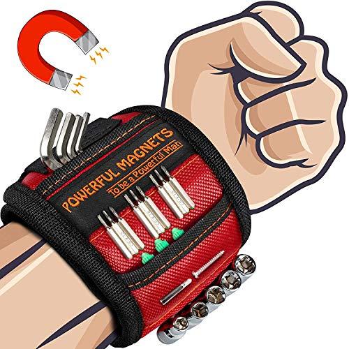 Geschenke Adventskalender Männer Magnetisches Armband - Werkzeug Geschenke für Männer, Magnetarmband Handwerker mit 15 Leistungsstarken Magneten, Gadgets für Männer Weihnachtsgeschenke