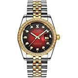 PASOY Men Automatic Red Face W...