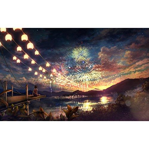 Winni43Julian Leuchtendes Puzzle, 1000 Teile Jigsaw Puzzle, 75 * 50 cm, Schönem Muster für Kinder und Erwachsene ( Feuerwerk )