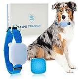 GreeSuit Collar GPS Tracker para mascotas gatos perros, rastreador con rango ilimitado, monitor de actividad, dispositivo de seguimiento impermeable, monitor anti-pérdida