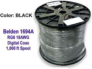 1000 ft. Belden 1694a Hd/sdi 18awg Rg6 Serial Digital Coaxial Cable, Black