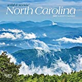 North Carolina Wild & Scenic 2020 7 x 7 Inch Monthly Mini Wall Calendar, USA United States of America Southeast State Nature