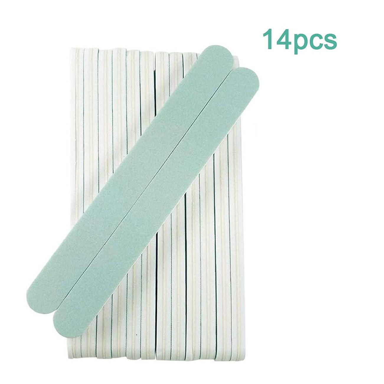 うれしいクレア売るジェルネイルファイルセット プロネイルバッファー 爪やすり 爪磨きスポンジ ネイルシャイナーバッファー600/3000 グリット14本セット