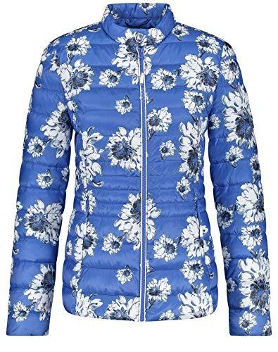 Gerry Weber Damen Steppjacke Mit Blumenmuster Figurumspielend, Tailliert Azur Blume 46