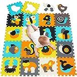 meiqicool Puzzlematte Tiere Puzzleteppich Baby Puzzlematte Schadstofffrei Bodenpuzzle Schaumstoff Puzzlematte Schadstofffrei Puzzle-Zubehör Teppiche & Läufer 010014