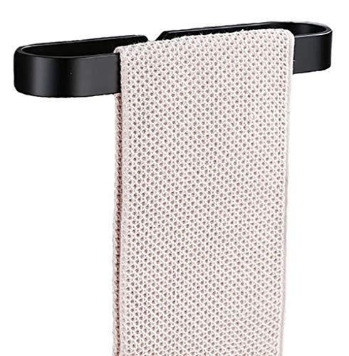 YunNasi Toallero toallero sin taladro, para inodoro y baño, 30 cm, 40 cm, 50 cm, color negro