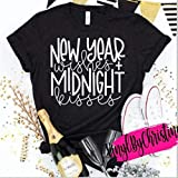 New Year Wishes and Midnight Kisses/Cute New Years Shirt/New Years Eve Party Shirt/NYE Shirt / 2021 / with many colored options, long sleeves, v neck, hoodie