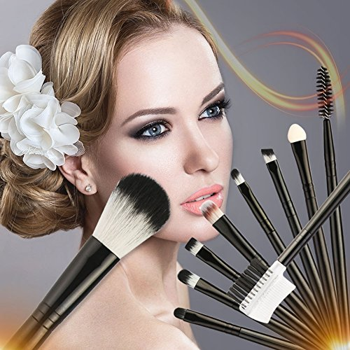 Pinceaux de maquillage Yiitay 10 Pcs Foundation Brush Set Professional Kabuki Blending Brush