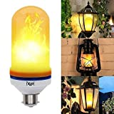 Pheonix led Bulb with Flame Effect B22 Base and 1300K Color Decoration Light (Yellow)