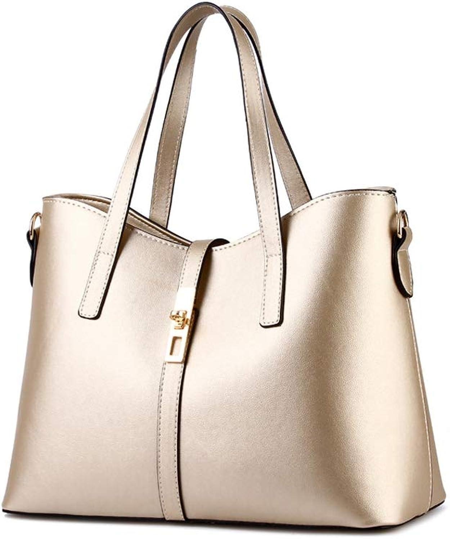 ASHIJIN New Female Large Simple Shoulder Messenger Bags Leather Pu Handbags Women