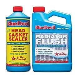 in budget affordable Blue Devil 32oz Head Gasket with Radiator Flash