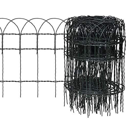 vidaXL Beetzaun Beeteinfassung Beetumrandung Gartenzaun Rasenkante Eisen 25×0,4m