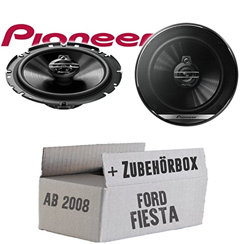 Lautsprecher Boxen Pioneer TS-G1730F - 16cm 3-Wege Koax Paar PKW 300WATT Koaxiallautsprecher Auto Einbausatz - Einbauset für Ford Fiesta MK7 Front Heck - JUST SOUND best choice for caraudio