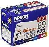「エプソン 純正 インクカートリッジ 砂時計 IC4CL69 4色パック」の画像