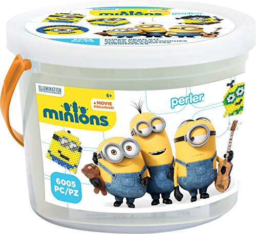 Product Image of the Perler Beads 80-42922 Minions Perler 6000 Bead Activity Bucket, Yellow