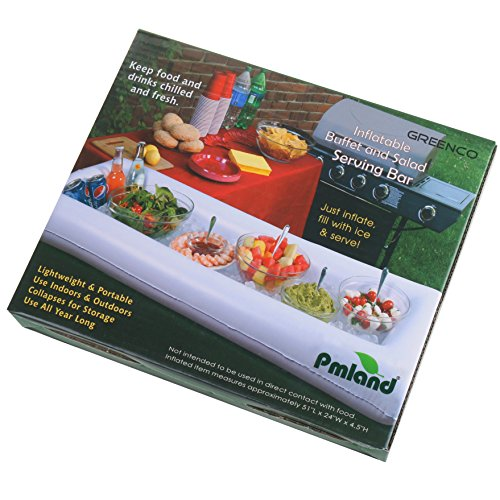 PMLAND Inflatable Pool Bar - Large Portable Floating Buffet and Tray, For Cooling And Serving Drinks, Salads and More