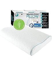 Dreamzie Ergonomische Memory Foam Pillow en Orthopaedic Pillow (60 x 40 cm) OEKO-TEX en Certipur Certified - Nekkussen dat ondersteuning biedt en anti-snurk - Bamboevezelhoes