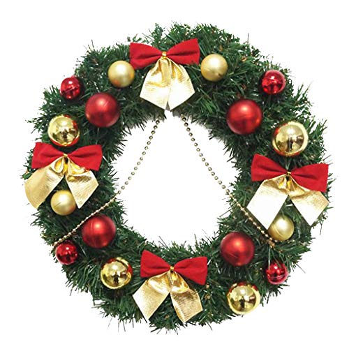 Kecar Garland Arrangement Christmas Ornament Christmas Wreath Decorative Wreath 30CM, Artificial, Product for Home (B)