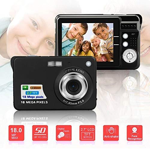 Kindercamera PZNSPY Portable 2.7 inch 18MP 720P 8X Zoom TFT LCD-scherm camera anti-vibratie camera kindercamera zwart.