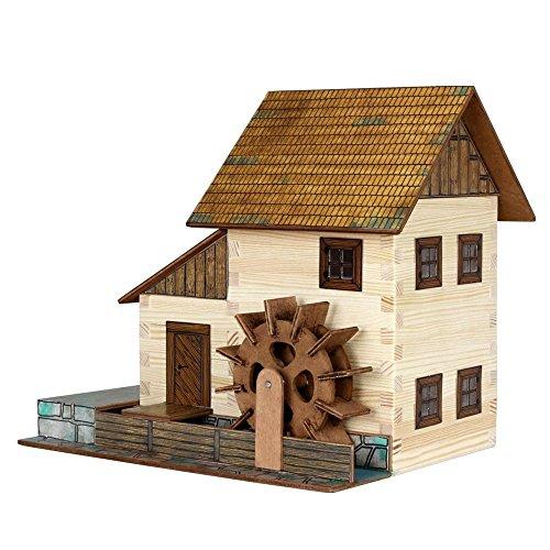 Walachia 8594036430167 - Nr. 16 Wassermühle Holz Modellbauset, Modellbahn Spur 1/ LGB