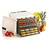 Excalibur EXD3900W 9-Tray Electric Food Dehydrator with Adjustable Thermostat Accurate Temperature Control Faster and Efficient Drying Made in USA, 9-Tray, White