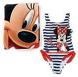 Bañador Minnie Mouse para niñas + Toalla Minnie Mouse de Microfibra para Playa o Piscina (8 años)
